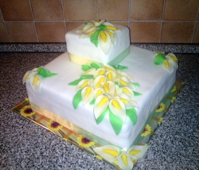 Svatební dort čtvercový