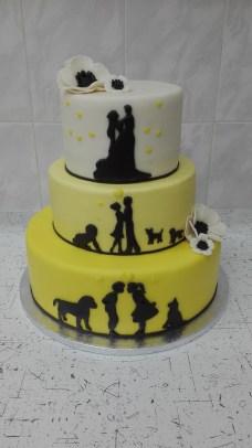 Svatební se siluetami