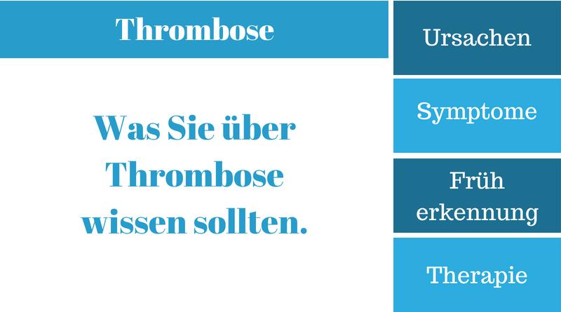 thrombose symptome ursachen therapie