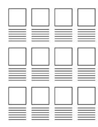 Storyboard Blanks to Download and Print at krankykids.com