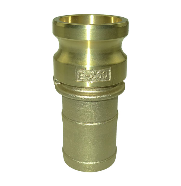 Male adapter with hose stem type E made of brass