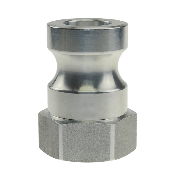 Male adapter with female thread made of aluminum
