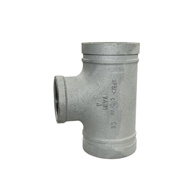 Nut-T-Stück Nr. 131R mit reduziertem Innengewinde-Abgang verzinkt