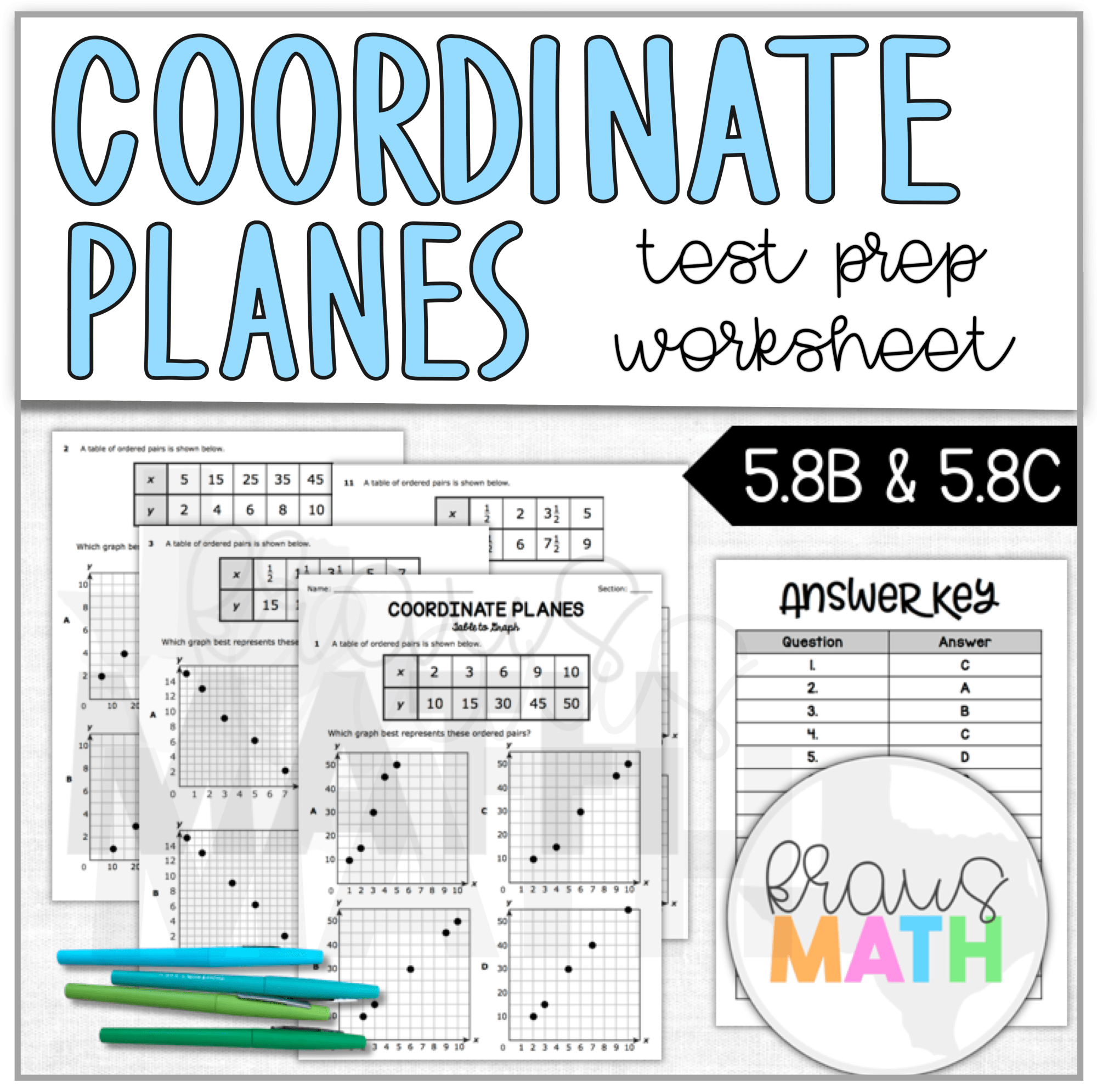 hight resolution of Coordinate Planes Worksheet (TEKS Aligned 5.8B \u0026 5.8C)   Kraus Math