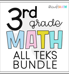 3rd Grade Math STAAR Test Prep Task Cards   ALL TEKS Bundle   Kraus Math [ 2100 x 2100 Pixel ]