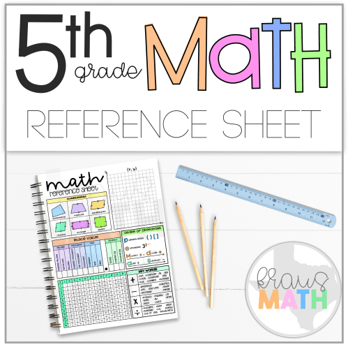 small resolution of 5th Grade Math Reference Sheet   Kraus Math