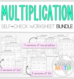 Multiplication 2x2 \u0026 3x1 Self-Check Worksheet BUNDLE! (TEKS 4.4D)   Kraus  Math [ 1020 x 1024 Pixel ]