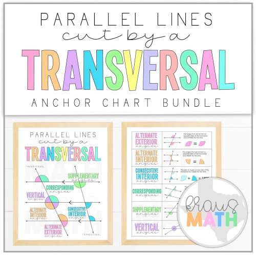small resolution of Transversals: Angle Relationships Posters (Math Anchor Charts)   Kraus Math