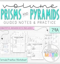 Volume of Prisms \u0026 Pyramids Worksheet BUNDLE (TEKS 7.9A)   Kraus Math [ 2390 x 2400 Pixel ]