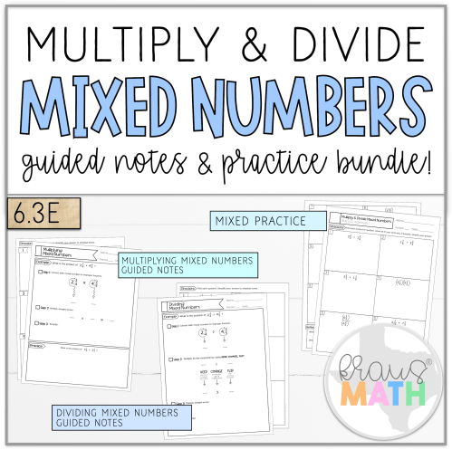 small resolution of Multiply \u0026 Divide Mixed Numbers   Notes \u0026 Worksheet TEKS 6.3E   Kraus Math
