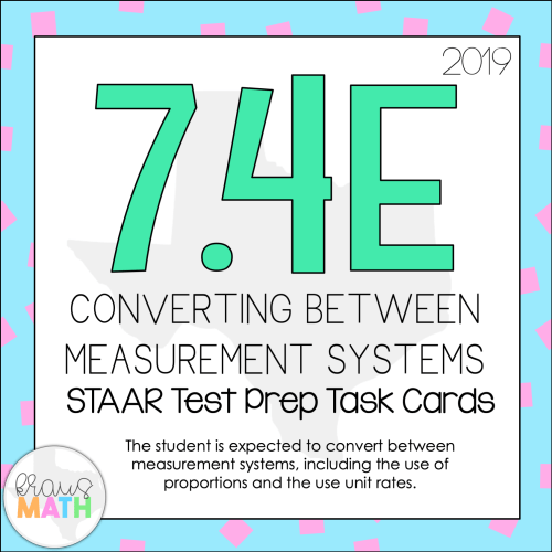 small resolution of 7.4E: Converting Between Measurement Systems STAAR Test Prep Task Cards    Kraus Math