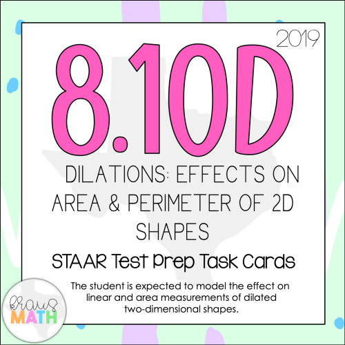 small resolution of 8.10D: Dilations Change in Dimensions of Area \u0026 Perimeter STAAR Test Prep  TEKS Task Cards   Kraus Math