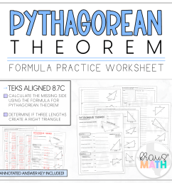 Pythagorean Theorem Guided Practice Worksheet   TEKS 8.7C   Kraus Math [ 2390 x 2400 Pixel ]