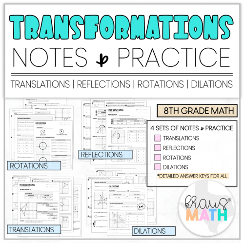 small resolution of Transformations Notes \u0026 Practice Worksheets   Kraus Math