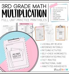 3rd Grade Math Packet #3   Multiplication   Kraus Math [ 1024 x 1024 Pixel ]