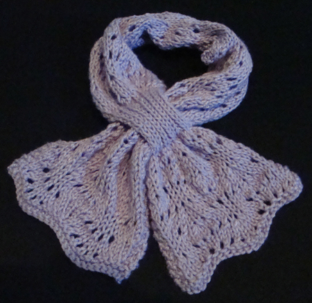 lacy bowknot knit scarf