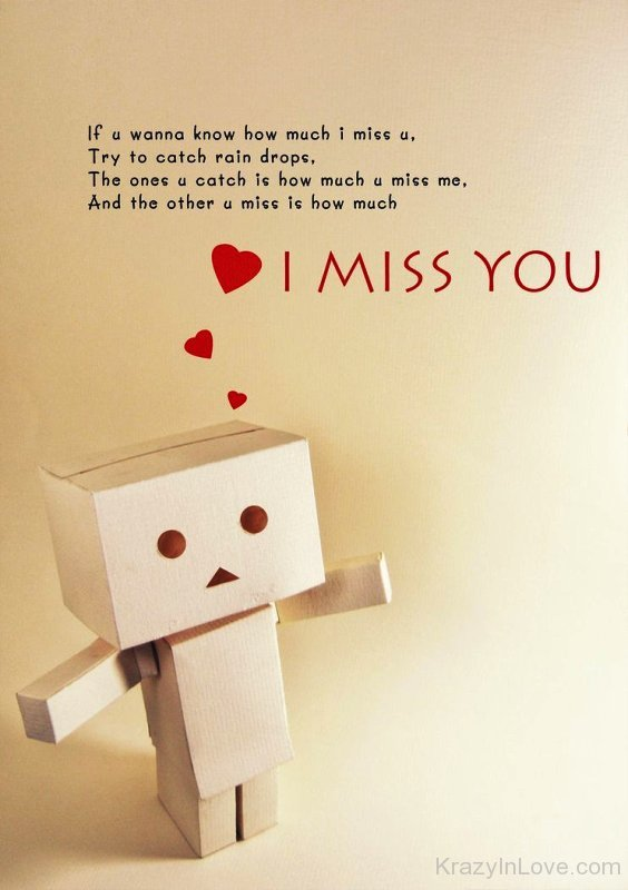 If You Wanna Know How Much I Miss You
