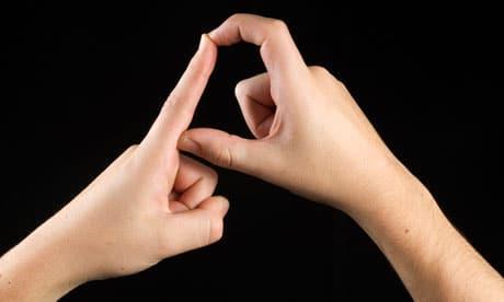 Deaf sign language