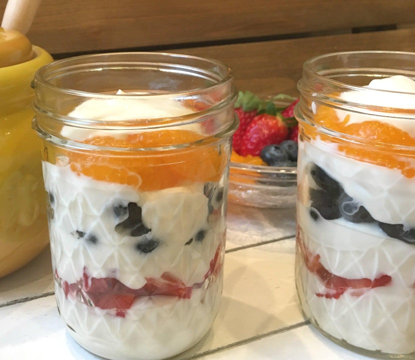 Honey Yogurt Breakfast Parfaits  Krazy Kitchen Mom
