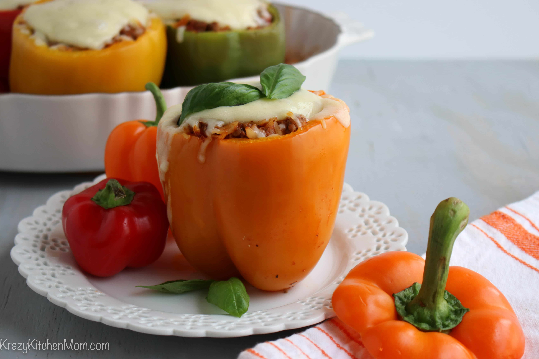 Italian Style Stuffed Bell Peppers  Krazy Kitchen Mom