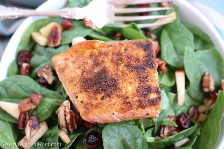 Winter Salmon Salad  Krazy Kitchen Mom  FishSeafood