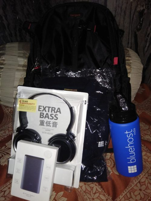 Swags for Lucky Winner from Bluehost India
