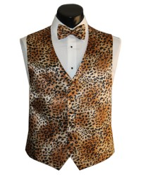 Animal Print vests and ties