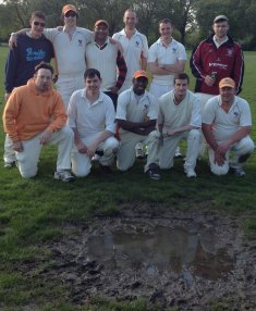 Mud ... on Battersea Park in our first LPL match in 2012