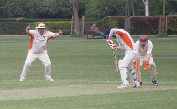 Bowled ... Jack's bails go flying as the ball cannons into the stumps