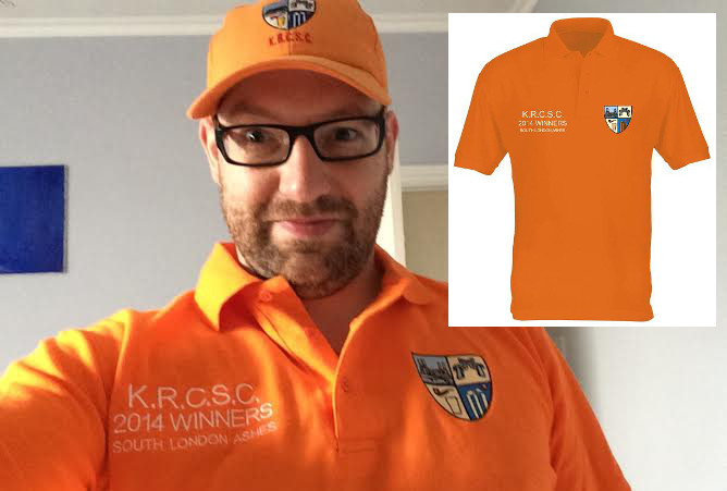 Orange is definitely in this summer! Road sport new polo shirts to mark Ashes win (and to annoy the Badgers)