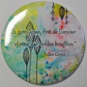 Miroir de poche, citation de Julien Green