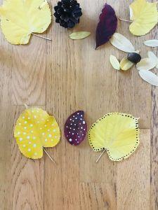 Bricolage de l'automne pour enfant