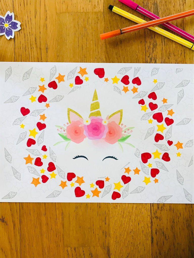 Coloriage licorne pour enfant