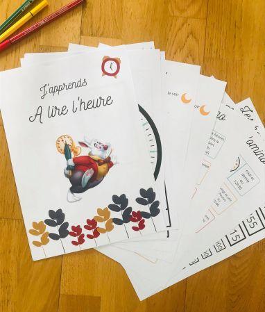 Jeux pour apprendre l'heure à imprimer