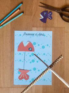 Activité facile poisson d'avril pour enfant