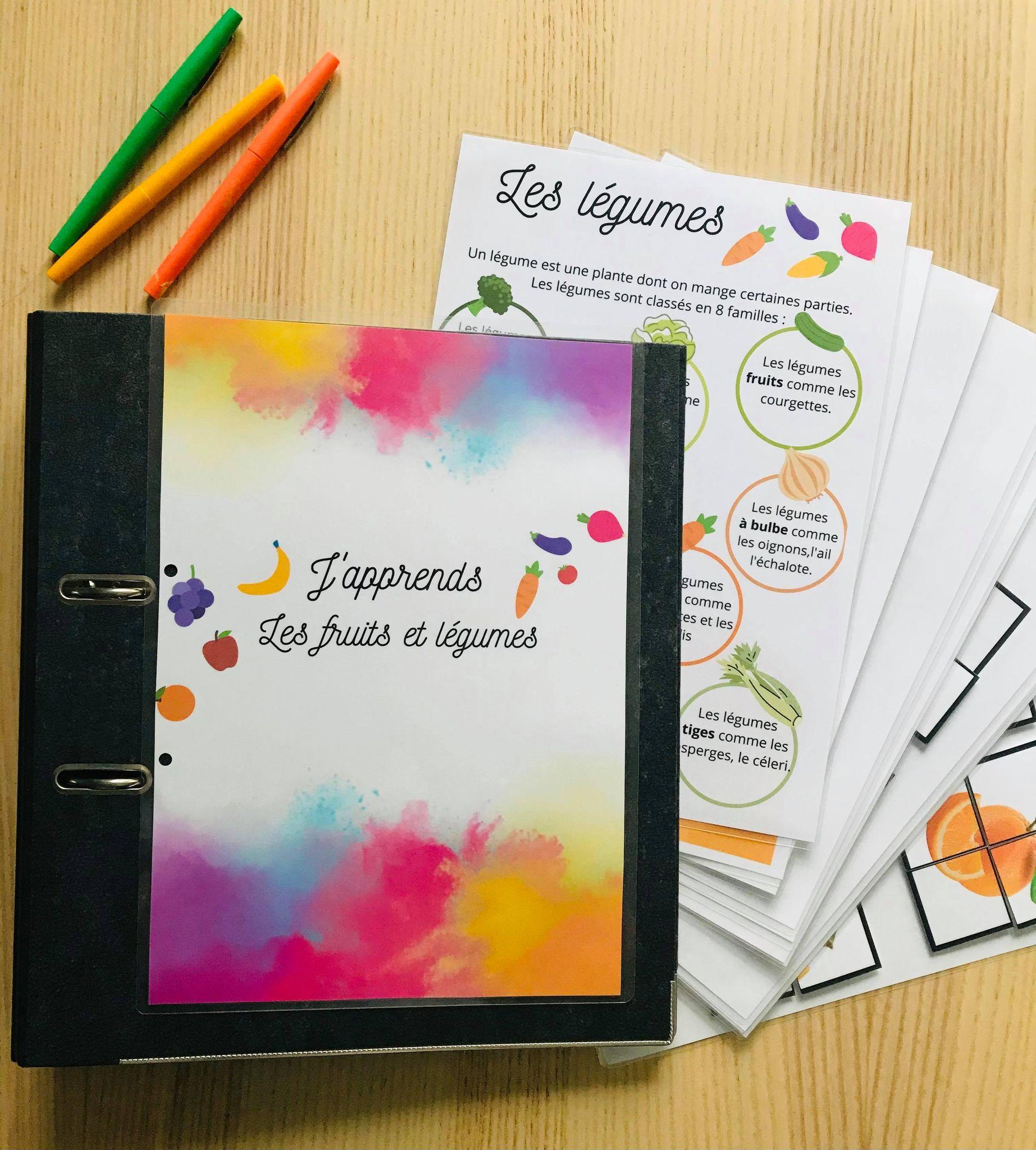 Quiet book fruit et légumes