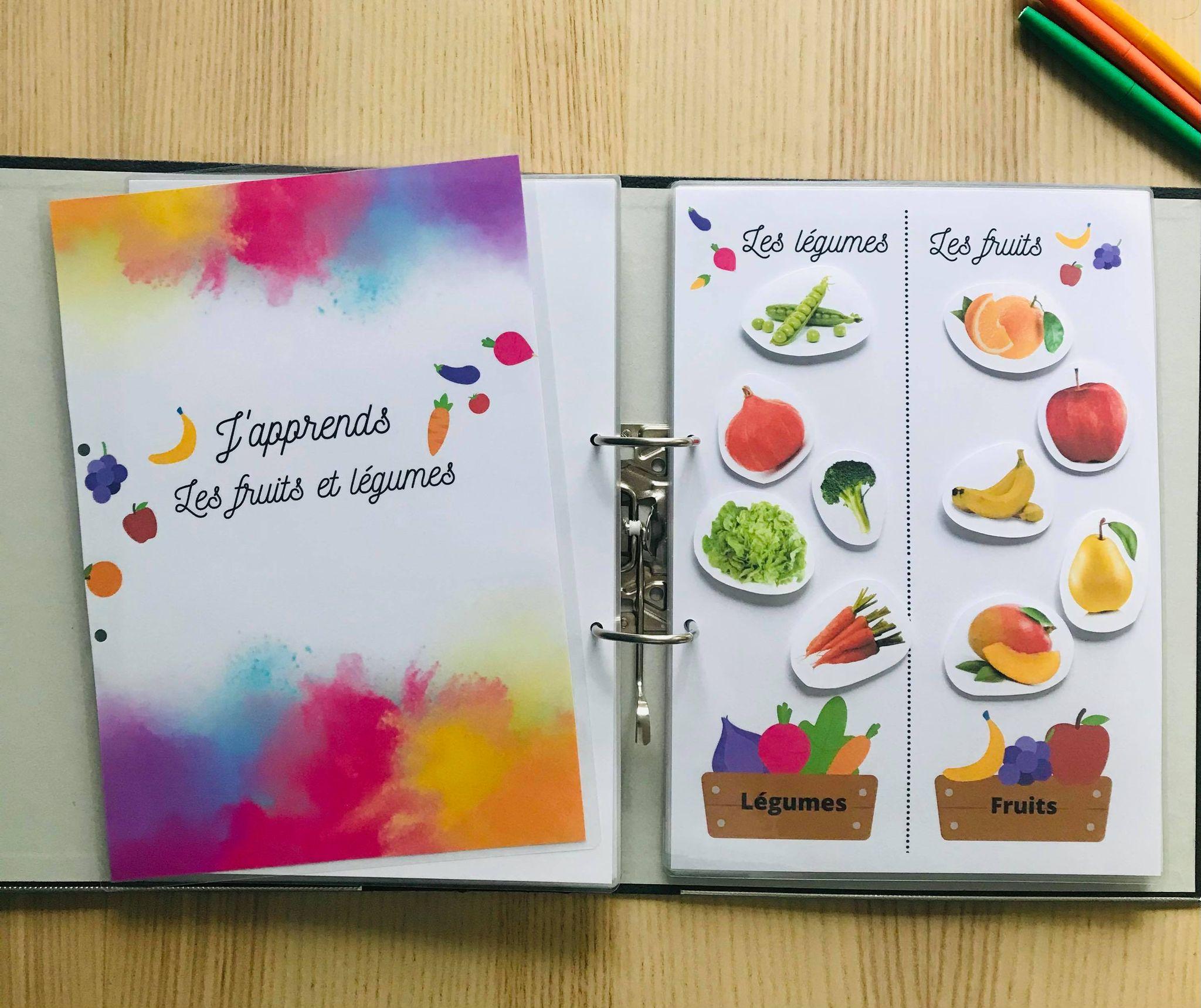 DIY quiet book fruits et légumes