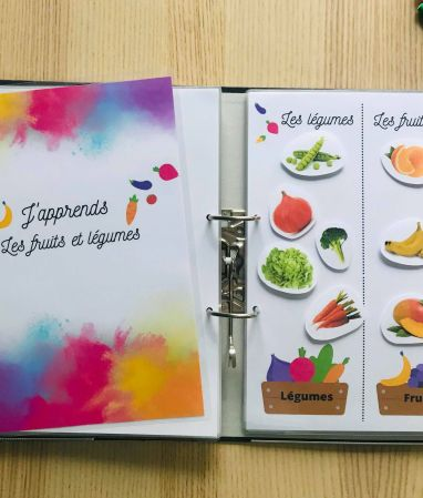 DIY quiet book fruits et légumes