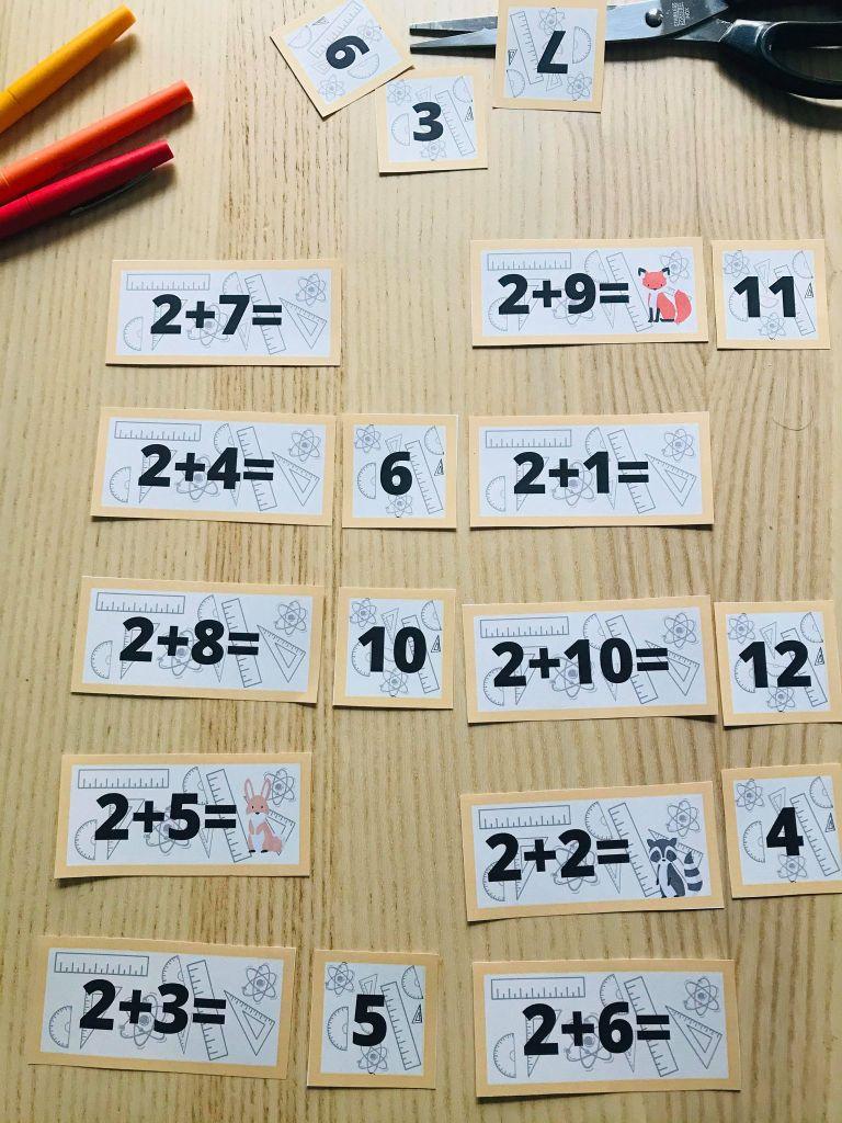 Jeu pour apprendre les tables d'addition