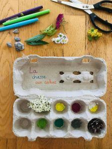 Chasse aux couleurs pour enfant