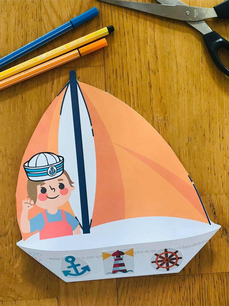 Activité bateau en papier