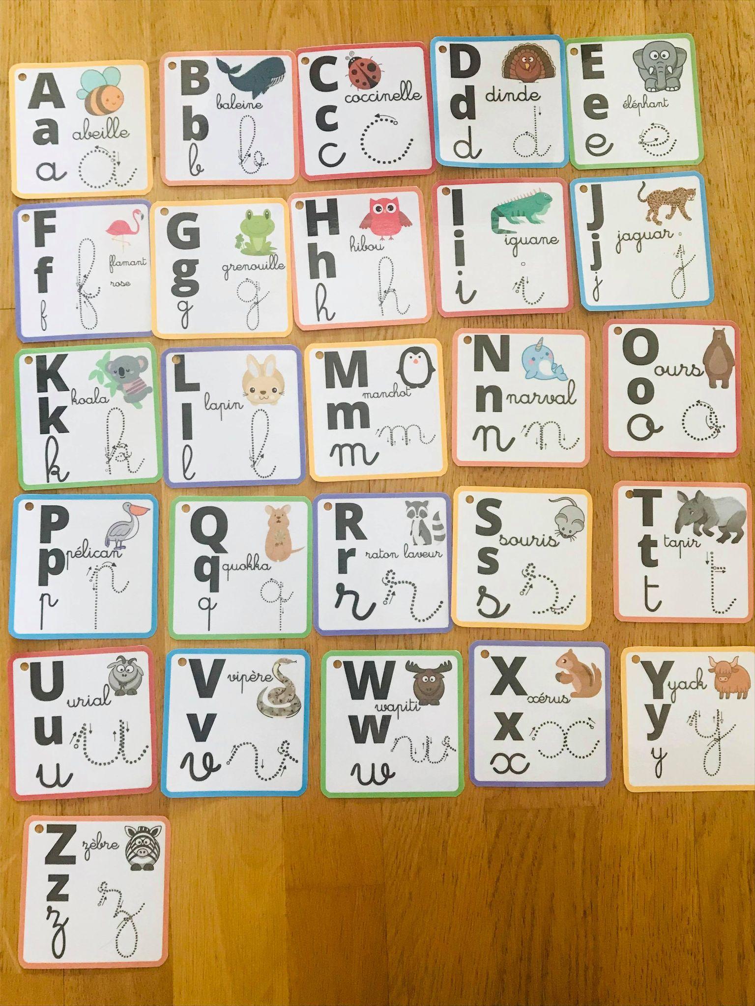 Abécédaire pour enfant en cartes