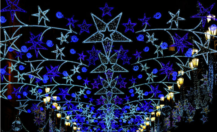 La iluminacin de Navidad