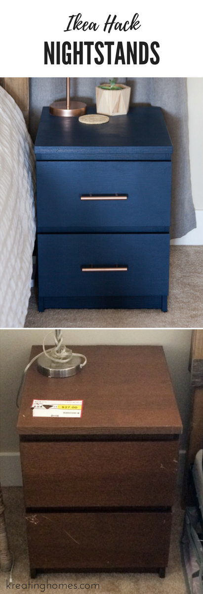 Old Ikea Nightstands Ikea Nightstand Hack: Turn those old MALM nightstands into new fabulous  beside furniture with just ...