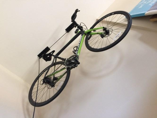 Bike hoist storage