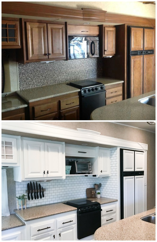 Painting Your Rv Kreating Homes, Painting Rv Cabinets With Chalk Paint