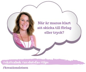 Jeanette Niemi, Kreationslotsen, din skrivcoach färdigt bokmanus
