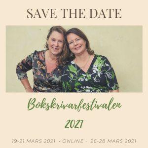 Bokskrivarfestivalen med Jeanette Niemi, Kreationslotsne- din skrivcoach och Anna-Maria Ekblad