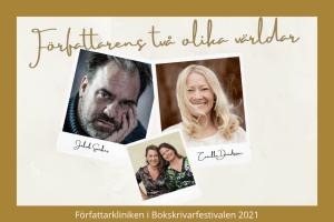 Bokrskrivarfestivalen2021 författarens två olika världar