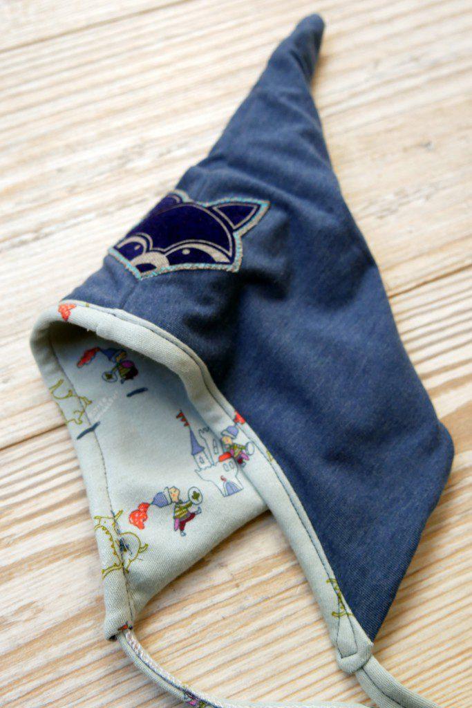 Babymütze Tobi Variante 1 mit Bändern